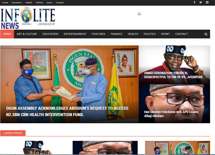 Infolite News Blog website